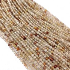 Copper Rutile 2-2.5mm round facet beads strand