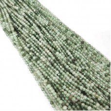 Green Aventurine 2-2.5mm round facet beads strand