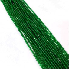 Green Onyx 2-2.5mm round facet beads strand