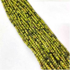 Green Opal 2-2.5mm round facet beads strand
