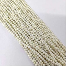 Mother Of Pearl 2-2.5mm round facet beads strand