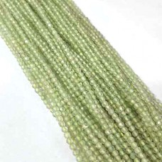 Natural Peridot 2-2.5mm round facet beads strand