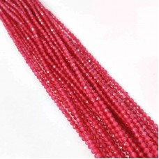 Natural Ruby 2-2.5mm round facet beads strand