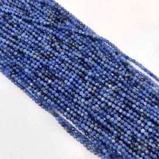 Natural Sodalite 2-2.5mm round facet beads strand