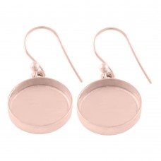 Round shape silver blank bezel cup casting earring for stone setting