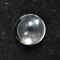 Crystal quartz 15mm round cabochon 10.0 cts