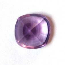 Amethyst 14x14mm onion step cut 8.6 cts