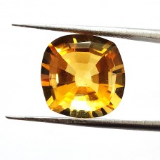 Citrine 14x14mm onion step cut 8.3 cts