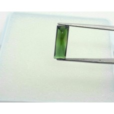 Natural Green tourmaline 14x5x4mm baguette shape facet 2 cts