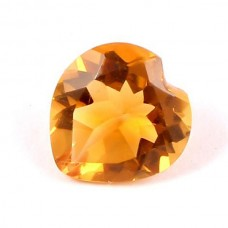 Citrine heart shape 6x6mm facet 0.5 cts