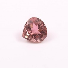 Pink tourmaline 10x10mm heart faceted cut 3.80cts