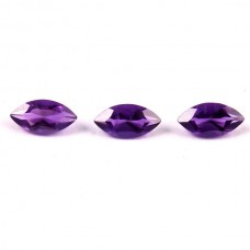 Amethyst marquise 6x5mm faceted cut 0.64 cts