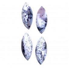 Dendritic opal marquise rose cut flat back