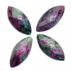 Ruby zoisite marquise rose cut flat back
