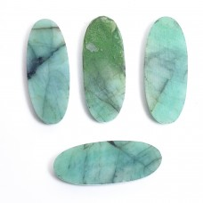 Raw emerald 25x10mm  Oval rosecut  8.3cts