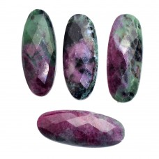 Ruby zoisite oval 40x15mm rose cut flat back 39.85 ct Gemstone
