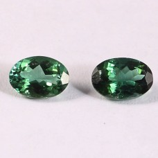 Natural Green tourmaline 4.50x6.50mm oval facet 1.45 cts