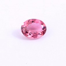 Pink tourmaline 9x7mm oval faceted cut 1.70cts