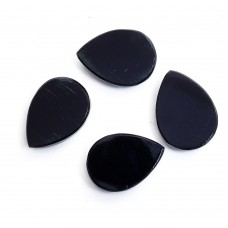 Black onyx pear rose cut flat back gemstone