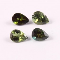 Natural Green tourmaline 7x5mm pear facet 3.10 cts