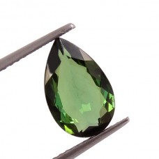 Natural green tourmaline 11x7mm pear facet 1.75 cts