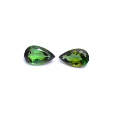 Natural green tourmaline 8x5mm pear facet 0.8 cts