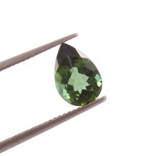 Natural Green tourmaline 6.7x10mm pear facet 1.70 cts