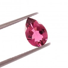 Pink tourmaline 5.7x9mm pear faceted cut 1 cts