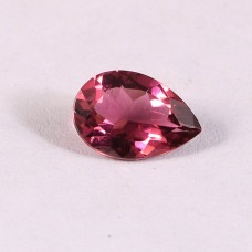 Pink tourmaline 9x6mm pear faceted 1.05 cts