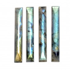 Labradorite rectangle rosecut flat cab