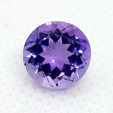 Amethyst round 10mm facet 3.45 cts