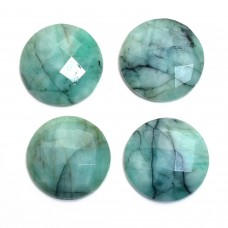 Raw emerald 10mm round rosecut 3.0 cts