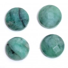 Raw emerald 14mm round rosecut 7.1 cts
