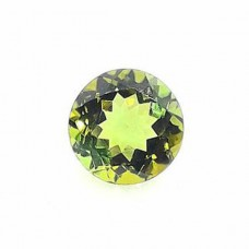 Green tourmaline 6mm round facet 0.85 cts