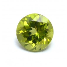 Peridot 8mm round facet  2.10 cts
