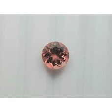Natural pink tourmaline 7mm round facet 1.30cts