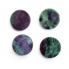Ruby zoisite 25mm round  rose cut flat back 37.7 ct Gemstone
