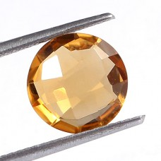 Natural citrine round cut 10.20mm facet 3.05 cts