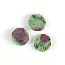Ruby zoisite 14mm round rose cut flat back