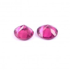 Rubylight tourmaline 4.5x4.5mm round faceted cut 0.7cts