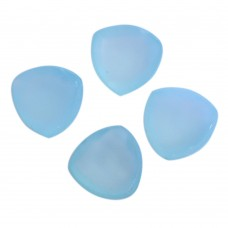 Aqua chalcedony trillion rose cut flat back gemstone