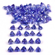 Tanzanite 4x4mm trillion cut 30.15 cts