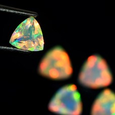 Ethiopian opal trillion shape 5x5mm facet 1.85 cts