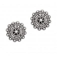 Antique silver stud earring