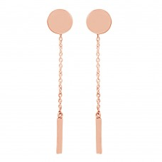Disc and bar minimalist earring