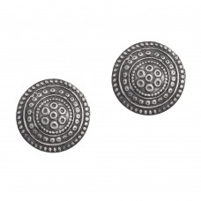 Silver antique handmade stud earring