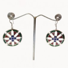 Enamel Art Amazing Design Silver Dangle Earring