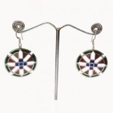 Enamel Art Amazing Design Silver Dangle Earring